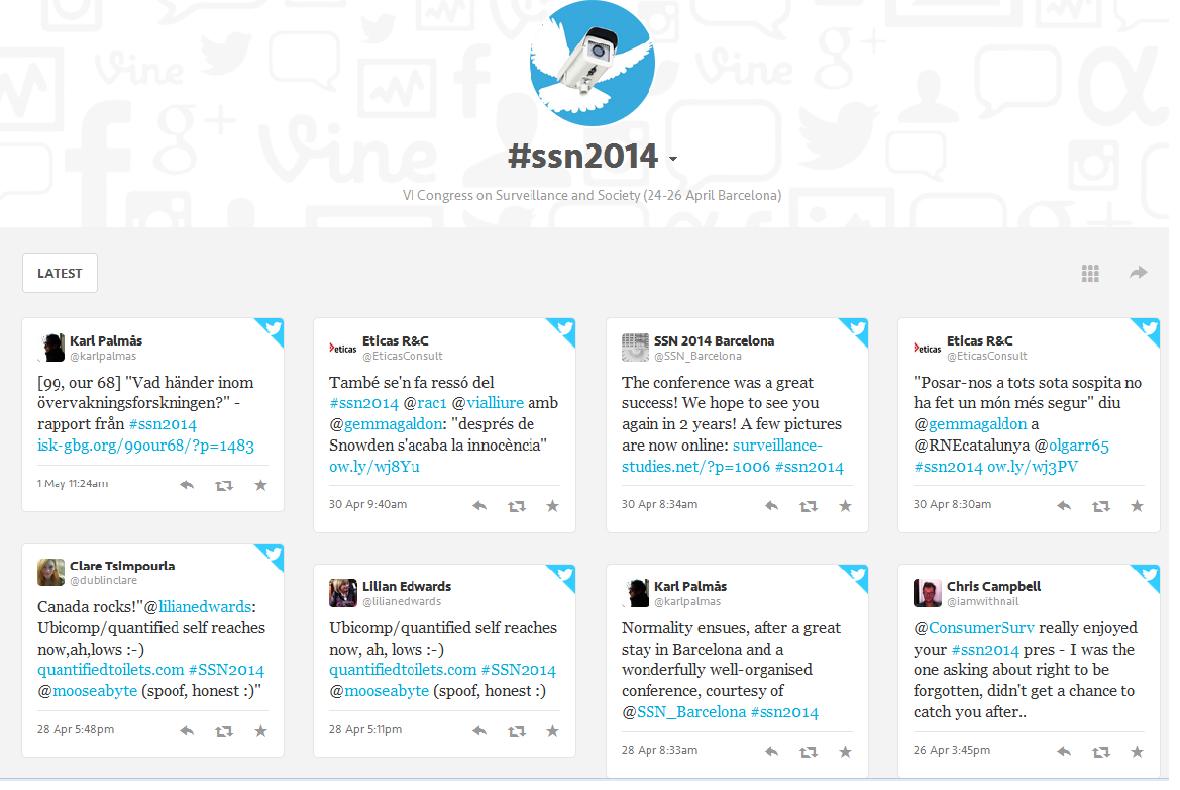 #ssn2014 tagboard